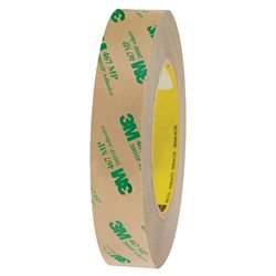 "1"" x 60 yds. (6 Pack) 3M 467MP Adhesive Transfer Tape Hand Rolls"