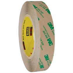 "1"" x 60 yds. (6 Pack) 3M 468MP Adhesive Transfer Tape Hand Rolls"