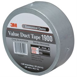 "2"" x 50 yds. Silver (3 Pack) 3M 1900 Duct Tape"
