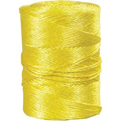 "1/4"", 1,150 lb, Yellow Twisted Polypropylene Rope"